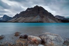 Bow Lake  Banff  Alberta  Canada (by Bin.D)