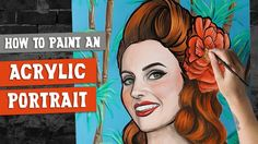 Using acrylic paint for portraits is a match made in heaven! Learn how to create the ultimate retro portrait with this easy step-by-step tutorial. Acrylic pa...