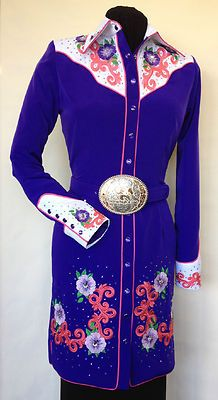 Exclusively by RIDING HIGH*USA.This retro shirt dress is fashion forward for the Ladies of today's western world.