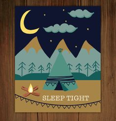 Sleep Tight Poster Print 11x14 by FrenchPressMornings on Etsy, $25.00