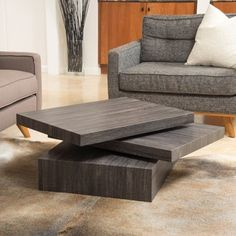 Carson Rotating Wood Coffee Table by Christopher Knight Home - 17626625 - Overstock - Great Deals on Christopher Knight Home Coffee, Sofa & End Tables - Mobile