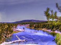 Yellowstone River Yellowstone National Park 2014 by MSchmidtPhotography.deviantart.com on @deviantART