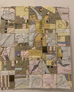The Dark Side — paula kovarik Map Quilt, Quilts, Diy Yarn Decor, Textiles, Quilt Festival, Fabric Manipulation, Fabric Samples, Fabric Art, Textile Art
