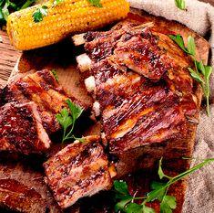 Costelinha de porco suculenta com laranja e mel | Cozinhas Itatiaia Tandoori Chicken, Steak, Buffet, Pork, Food And Drink, Ethnic Recipes, Pizza, Bernardo, Amelia