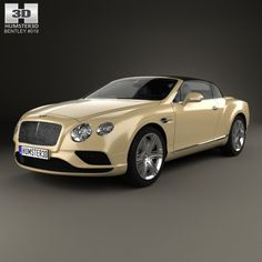 Bentley Continental GTC 2015 by The model was created on real car base. It's created accurately, in real units of measurement, qualitatively and maximally clos Bentley Exp 10, Bentley Gt, Luxury Car Brands, Luxury Cars, Luxury Auto, Bentley Convertible, Mercedes Concept, Bentley Rolls Royce, Bentley Flying Spur