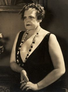 """Marie Dressler (1868-1934)....Dressler appeared in more than forty films, and achieved her greatest successes in talking pictures made during the last years of her life. Always seeing herself as physically unattractive, she wrote an autobiography titled, """"The Life Story of an Ugly Duckling""""."""