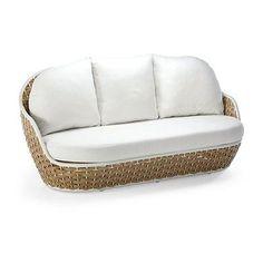 Ravello Sofa Cushions By Porta Forma - Sunbrella Sailcloth Salt, Stocked - Frontgate, Patio Furniture