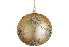 "5"" Staruburst Finial Ornament, Gold"