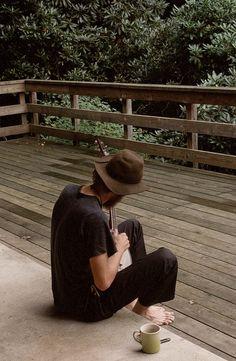 Hat jeans t shirt fashion men tumblr Style streetstyle beard travel music