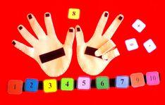 Liczenie na zbiorach zastępczych #sensorymat #countingmat #feltboard #countingboard #sensoryboard 9 And 10, Plastic Cutting Board
