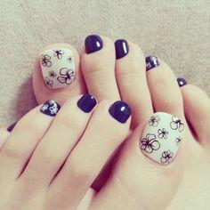 トレンドのおフェロな足元に♡ネイビーのペディキュア25選♡ - Itnail Gelish Nails, Pedicure Nails, Mani Pedi, Diy Nails, Toe Nail Color, Toe Nail Art, Nail Colors, Acrylic Nails, Cute Pedicure Designs