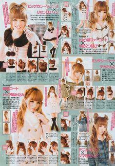 Super Hair Tutorial Korean Make Up Ideas Pelo Lolita, Lolita Hair, Gyaru Hair, Kawaii Hairstyles, Cute Hairstyles, Asian Men Hairstyle, Japan Hairstyle, Hairstyle Short, Asian Makeup