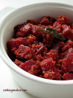 Sri Lankan Beetroot Thel Dala Recipe