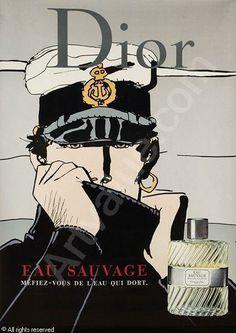 Dior Eau Sauvage, advertisement by Rene Gruau