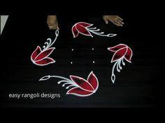 Try this Amazing 6x2 dots Peacock rangoli & kolam designs - Beginners Muggulu - YouTube