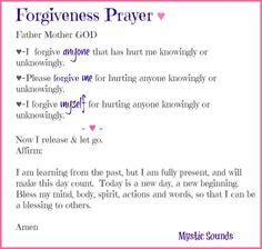 forgivness prayer