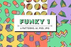 Funky Patterns 1 by kloroform on @creativemarket