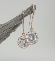Rose Gold Orchid Earrings 4 cascading orchids Rose gold pearl