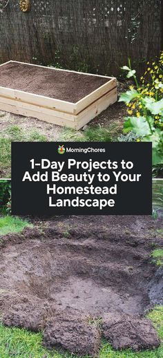 Beautifying your homestead is possible even with a tight budget and limited time. These projects will transform your landscape & make it more tranquil Garden Beds, Garden Paths, Garden Landscaping, Outdoor Gardens, Indoor Outdoor, Diy Garden Projects, Wood Projects, Lawn And Landscape, Gardening Tips