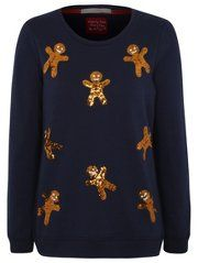 Sequin Gingerbread Man Christmas Sweatshirt