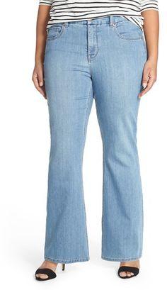 Plus Size Women's Melissa Mccarthy Seven7 Stretch Flare Leg Jeans