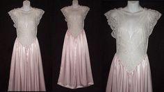 Olga Nightgown Vintage Floor Length Pastel lace bodice by HeartVintageLingerie  #vintage #vintageLingerie #olgaNightgown #etsygifts