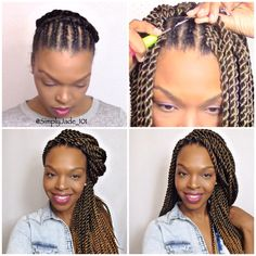 SimplyJade101 - tutorial on these beautiful ombré CROCHET Senegalese twists by @BeautyCanBraid