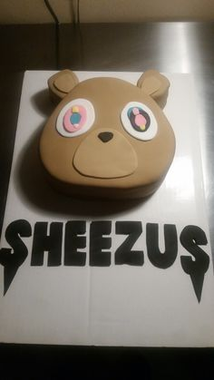 Kanye West Bear Cake I Made For My Daughter S 16th Birthday Kanye West Birthday Fun Desserts 7th Birthday Cakes