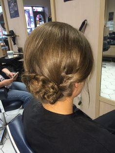 Simple summer hair up