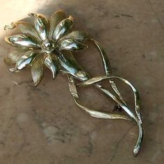 Large flower brooch Hollywood vintage from Jewels & Finery UK