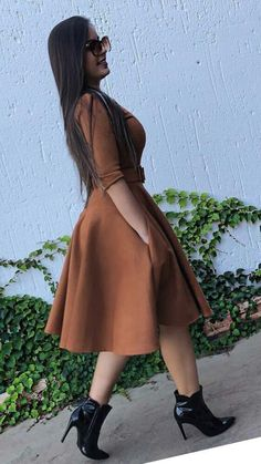 Swans Style is the top online fashion store for women. Shop sexy club dresses, jeans, shoes, bodysuits, skirts and more. Modest Casual Outfits, Modest Dresses, Classy Outfits, Cute Dresses, Vintage Dresses, Fall Outfits, Cute Outfits, Trend Fashion, Cute Fashion