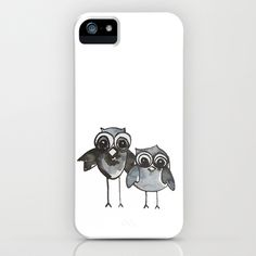 Two Feathered Friends Owl iPhone Case
