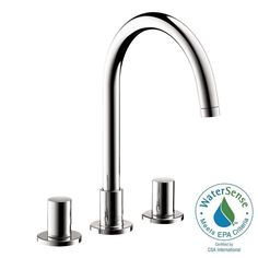 Gallery One Hansgrohe Uno in Widespread Handle High Arc Bathroom Faucet in Chrome