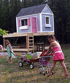 Free Plans to Help You Build a Playhouse for the Kids: Ana White's Free Playhouse Plans