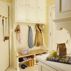 Mud/Laundry Room Inspirational Pictures - Beneath My Heart Locker Designs, Clean Mama, Built In Furniture, Kitchen And Bath Design, Mudroom, Home Projects, Home Remodeling, Shelving, Lockers