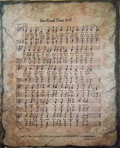 Beautiful artwork of an hymn.