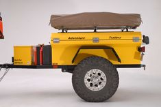 20 Off-Road Camping Trailers Perfect For Your Jeep - decoratoo Trailer Tent, Off Road Trailer, Trailer Build, Camper Trailers, Trailer Plans, Jeep Camping, Off Road Camping, Van Camping, Airstream