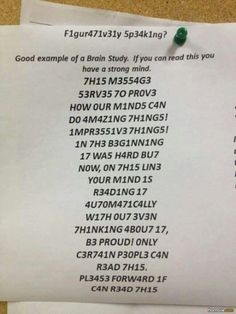 Try to read this if u can ✌