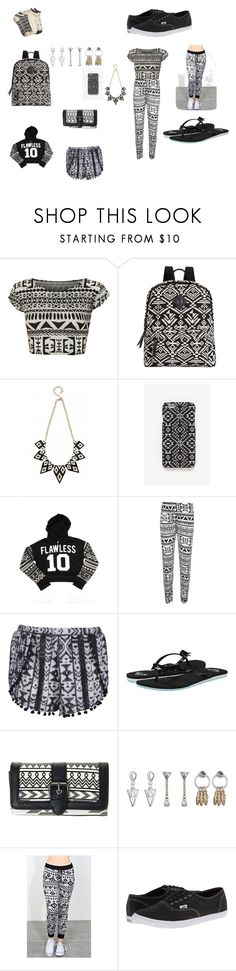 """""""AZTEC"""" by mmbugg ❤ liked on Polyvore featuring beauty, WearAll, Madden Girl, With Love From CA, Boohoo, Roxy, Topshop, Vans and Lucky Brand"""