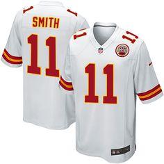 Nike Chiefs #11 Alex Smith White Mens NFL Elite Jersey