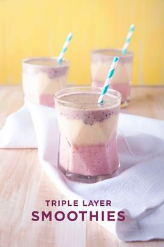 triple layer smoothie | designlovefest