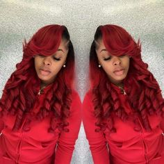 Kjvougee Dyed Red Hair Pretty Color Weave Hairstyles
