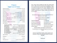 Eagle Court Of Honor Program Template Eagle Court Of Honor The