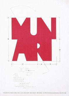 """garadinervi: """" Bruno Munari, Progetto per logo personale, 1968 """""""