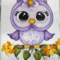 VÍDEO AULA - PINTANDO A CORUJINHA Owl Clip Art, Owl Art, Tole Painting, Fabric Painting, Cute Owls Wallpaper, Felt Animal Patterns, Owl Tattoo Design, Felt Birds, Baby Owls