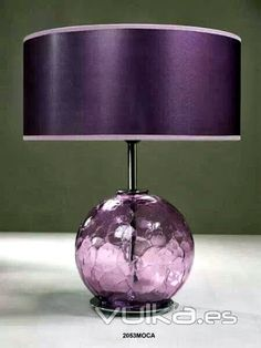 """""""lavender"""" is a pastel shade of purple. this is dark purple. Shades Of Purple, Deep Purple, Table Violet, Salons Violet, Purple Lamp, Purple Furniture, Purple Home Decor, Purple Rooms, All Things Purple"""