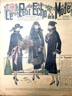 1st November 1925 Mourning Dress - French Fashion Paper Le Petit Echo de la Mode