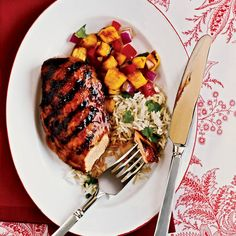 Marinating: Hawaiian Chicken - 50 Healthy Chicken Breast Recipes - Cooking Light