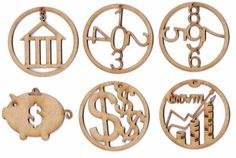 Would like these for my cap decoration. Accountant Money Wooden Christmas Holiday Ornaments by EPLaser.
