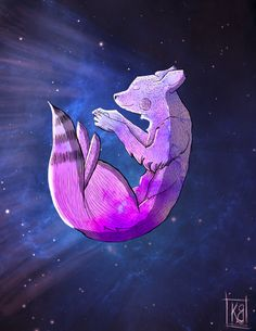 #draw #ilustration #sketch #fox #space #artwork #art